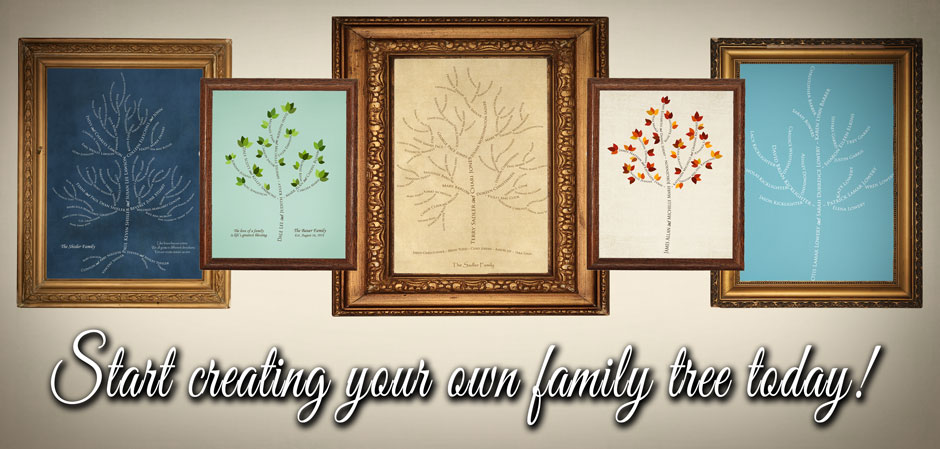 family tree artwork samples