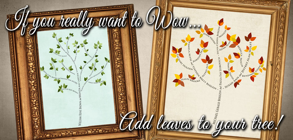 family tree art with leaves examples